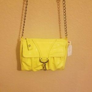 Jessica Simpson crossbody bag neon yellow NWT